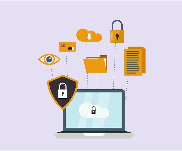 Cyber beveiligingsconcept
