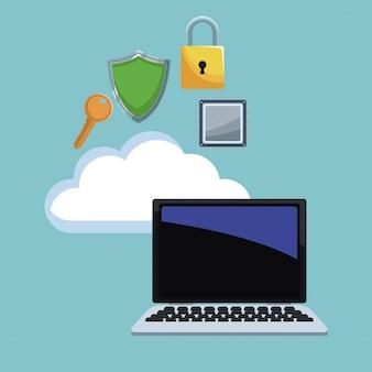 Cyber beveiligingspictogrammen
