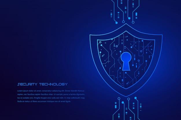 Cyber beveiligingstechnologie concept