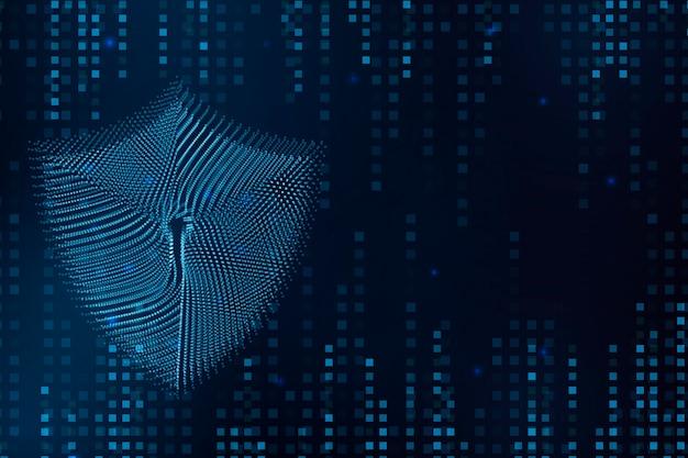Cyber hangslot illustratie veiligheidsconcept
