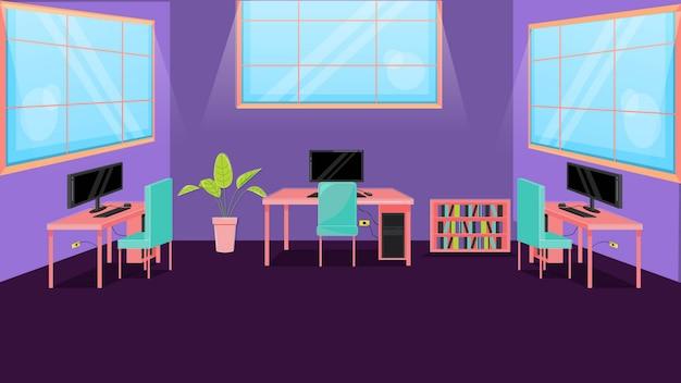Cyber koffie achtergrond vectorillustratie