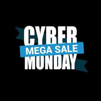 Cyber maandag achtergrond met verkoop labels