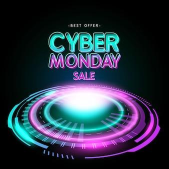 Cyber maandag banner verkoop en aanbieding