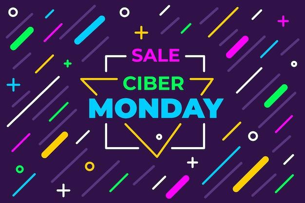 Cyber maandag concept in plat ontwerp