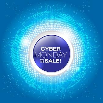Cyber maandag deals ontwerp, grafische illustratie eps10