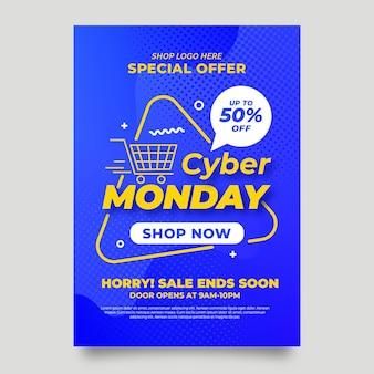 Cyber maandag flyer ontwerp