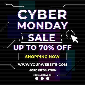 Cyber maandag flyer vierkant