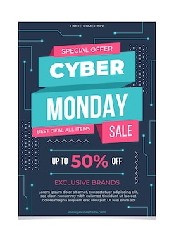 Cyber maandag flyer