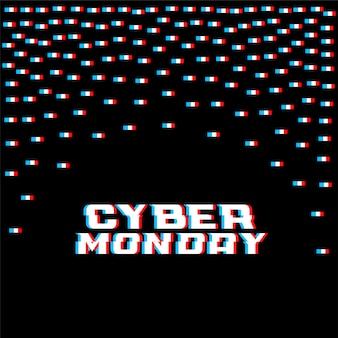 Cyber maandag glitch stijl achtergrond