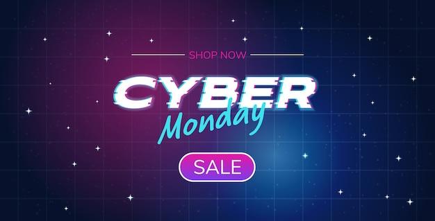 Cyber maandag grote verkoop advertentie online sjabloon speciale aanbieding