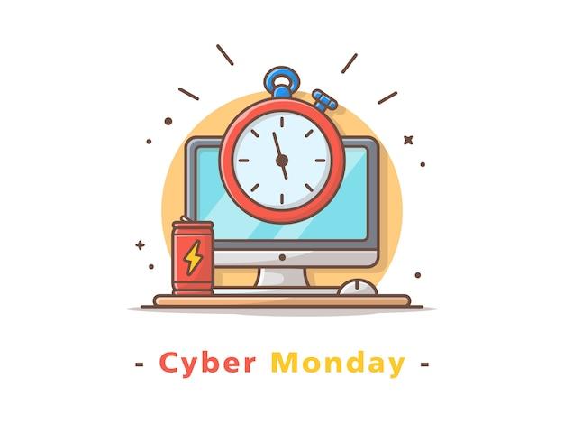 Cyber maandag illustratie