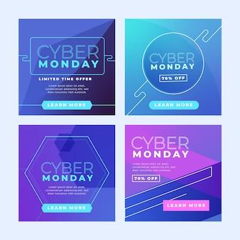 Cyber maandag instagram-berichten