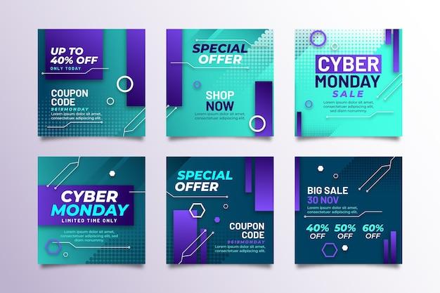 Cyber maandag instagram posts-collectie
