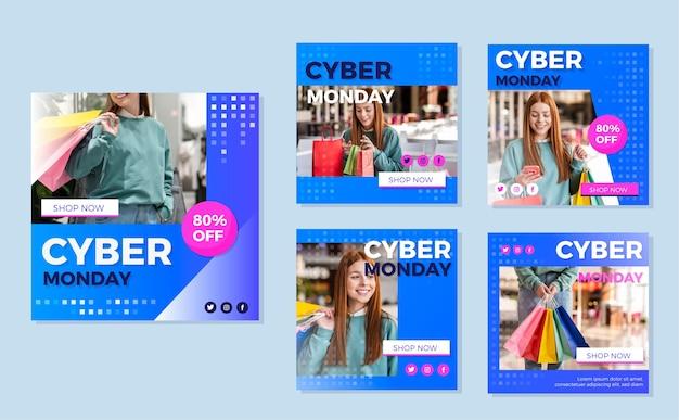 Cyber maandag instagram posts pack