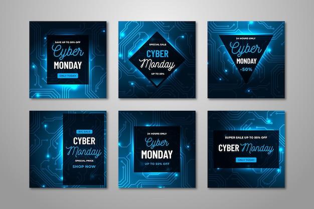 Cyber maandag instagram postverzameling