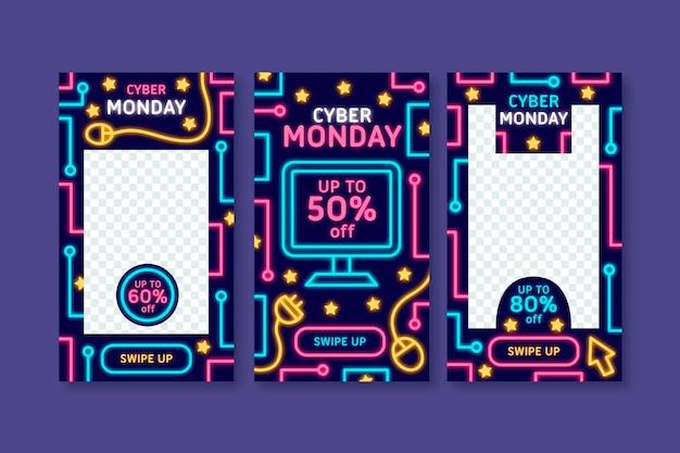Cyber maandag instagram-verhalen