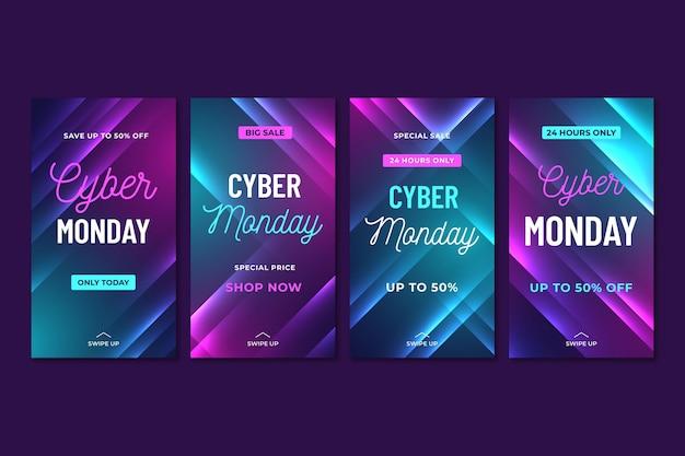 Cyber maandag instagram-verhalencollectie