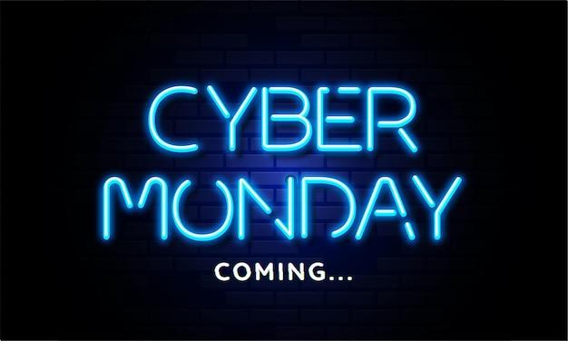 Cyber maandag komende nacht teksteffect