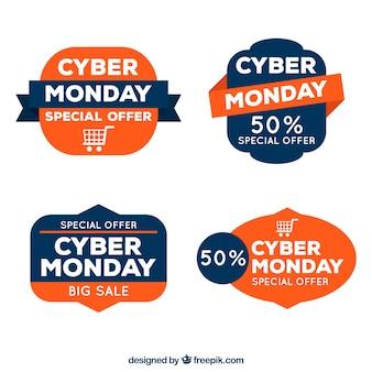 Cyber maandag kortingsstickers instellen