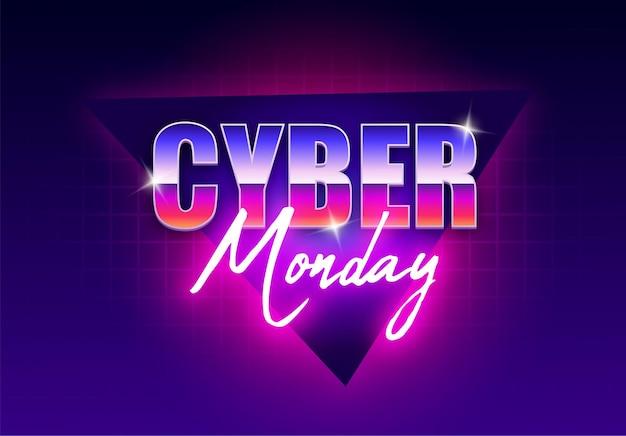 Cyber maandag neon banner