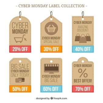 Cyber maandag prijs tag concept