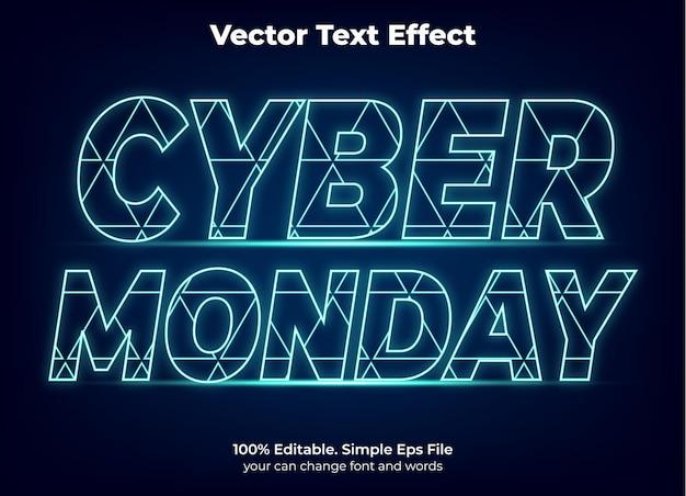 Cyber maandag promotie teksteffect bewerkbaar