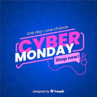 Cyber maandag te koop banner