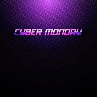 Cyber maandag technologie abstracte achtergrond