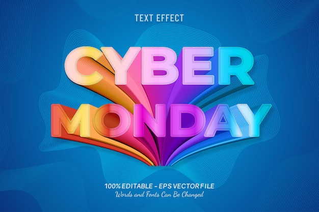 Cyber maandag teksteffect