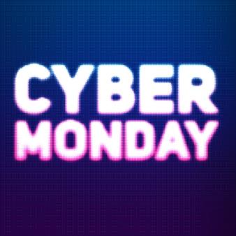 Cyber maandag verkoop achtergrond met glanzende stippen.