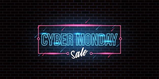 Cyber maandag verkoop achtergrond
