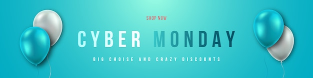 Cyber maandag verkoop conceptontwerp.