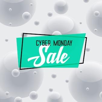 Cyber maandag verkoop grijze achtergrond