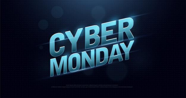 Cyber maandag verkoop logo ontwerp technologie concept