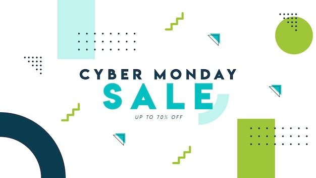 Cyber maandag verkoop memphis stijl achtergrond