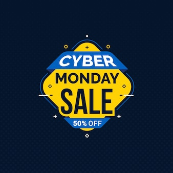 Cyber maandag verkoop sjabloon voor spandoek voor zakelijke promotie