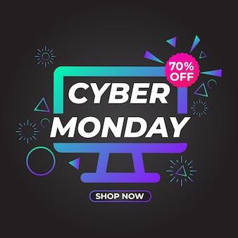 Cyber maandag verkoop social media post promotie