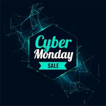 Cyber maandag verkoop technische achtergrond voor online winkelen