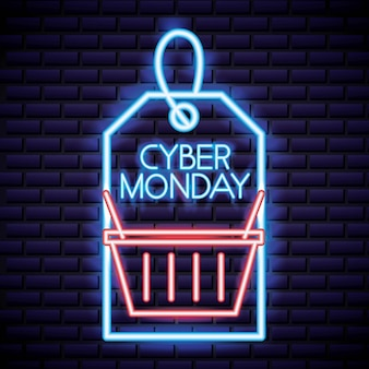 Cyber maandag winkel label