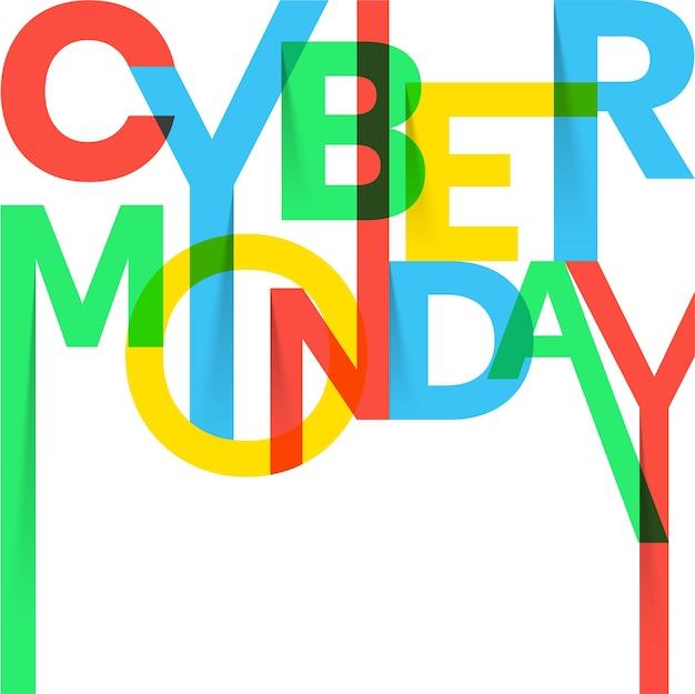 Cyber monday sale achtergrond.