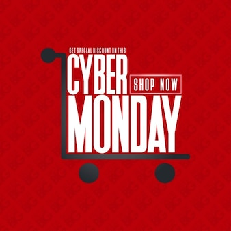 Cyber monday shopping card poster