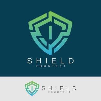 Cyber security eerste letter i logo ontwerp