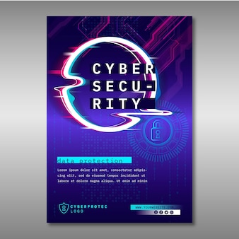 Cyber security flyer-sjabloon