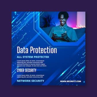 Cyber security flyer-sjabloon