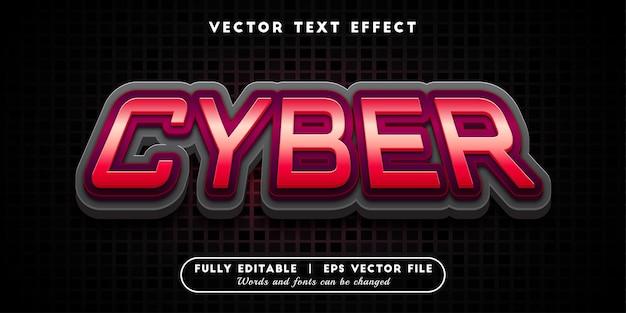Cyber-teksteffect, bewerkbare tekststijl