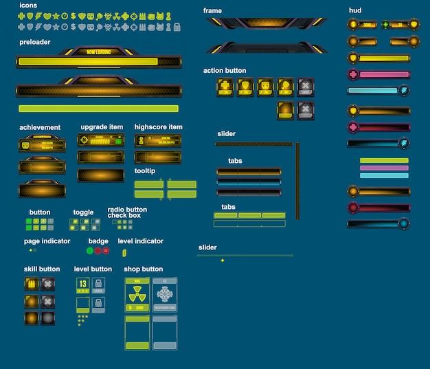 Cyber world game-elementen