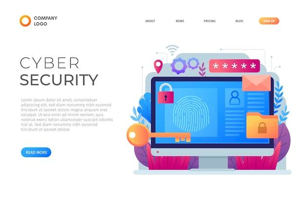 Cyberaanval concept