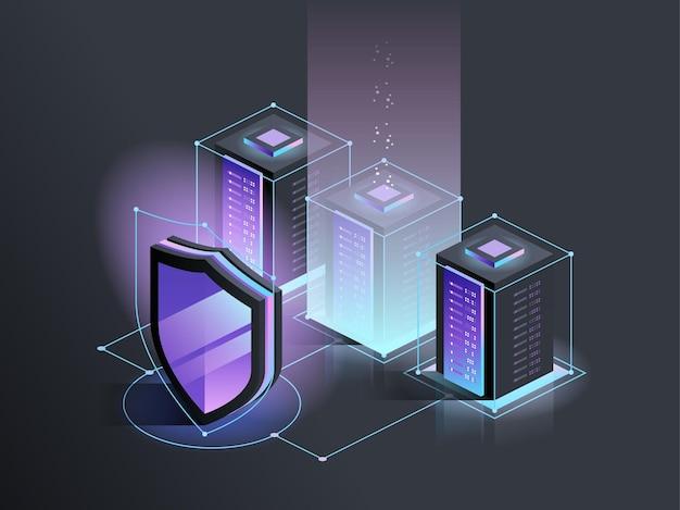 Cyberbeveiliging bescherming netwerkbeveiliging en veilig uw gegevensconcept digitale misdaad anonieme hacker