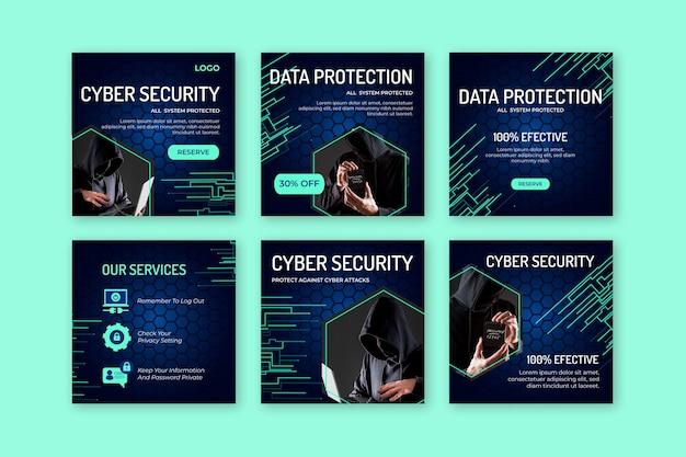 Cyberbeveiliging instagram-berichten