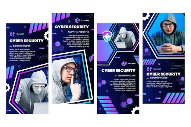 Cyberbeveiliging instagram-verhalencollectie
